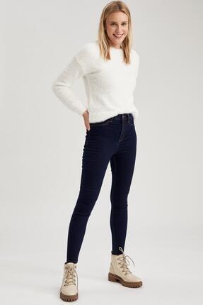Defacto Kadın Koyu Mavi Super Skinny Fit Jean Pantolon 3