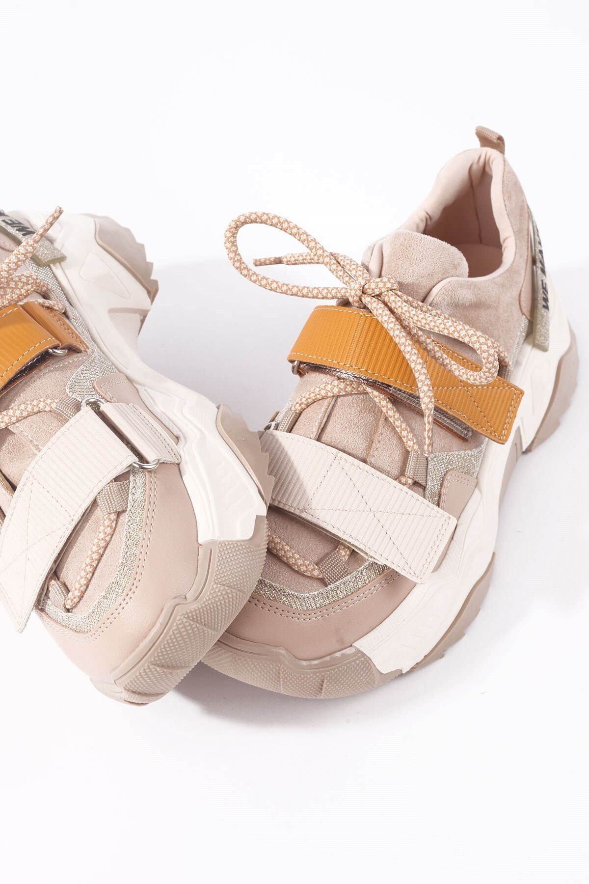 65140 Kadın Spor Ayakkabı Bej Hardal Multi