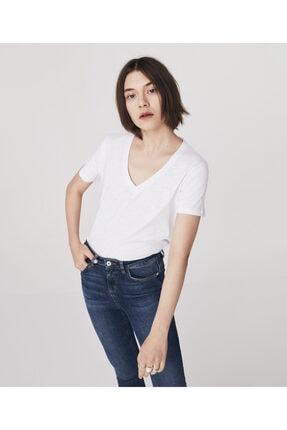 Twist Kadın Beyaz Basic T-shirt 0