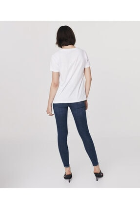 Twist Kadın Beyaz Basic T-shirt 4