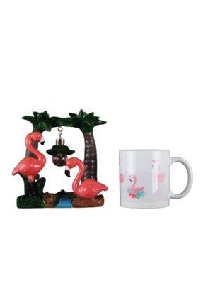 Flamingo 2 Li Set Flamingo Işıklı Biblo Flamingo Kupa HPKT1511
