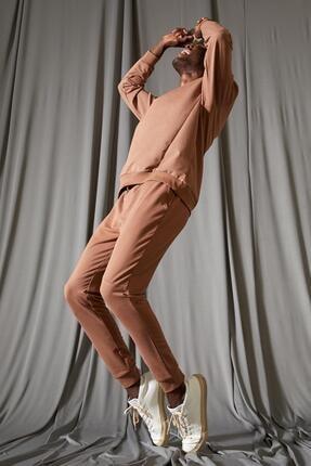 Defacto Erkek Kahverengi Slim Fit Jogger Eşofman Altı 0