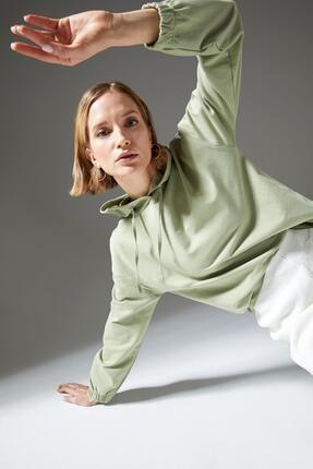 Defacto Regular Fit Organik Pamuk Kapüşonlu Sweatshirt 0