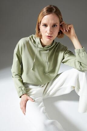 Defacto Regular Fit Organik Pamuk Kapüşonlu Sweatshirt 4