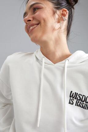 Defacto Coool Kapüşonlu Baskılı Relax Fit Sweatshirt 2
