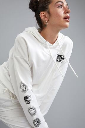 Defacto Coool Kapüşonlu Baskılı Relax Fit Sweatshirt 4