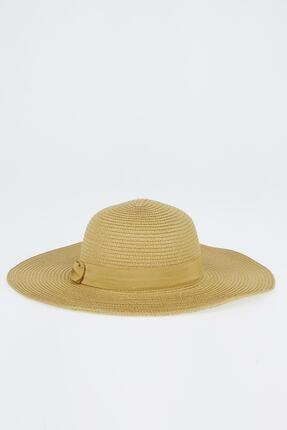 Defacto Şerit Detaylı Hasır Şapka 2