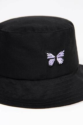 Addax Kadın Siyah İşleme Detaylı Şapka ŞPK1021 - AKS ADX-0000022487 1