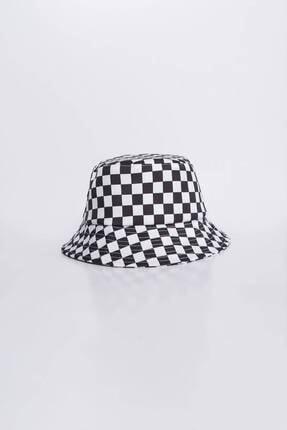 Addax Kadın Damalı Şapka Şpk1045 - E1 Adx-0000023856 3