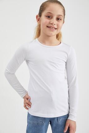 Defacto Kız Çocuk Basic Uzun Kollu Tişört 0