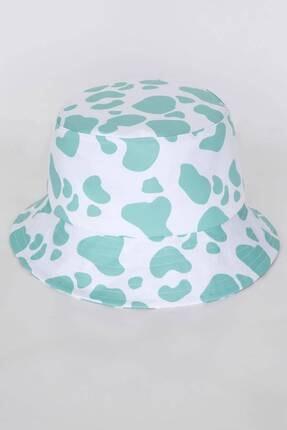 Addax Kadın Mint Beyaz Şapka Şpk1045 - E1 Adx-0000023856 2