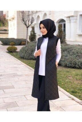 Armine Kadın Trend Yelek Özel Seri Logolu Siyah 2