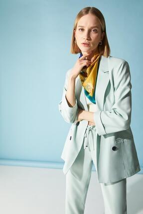 Defacto Kadın Turkuaz Oversize Fit Blazer Ceket 3