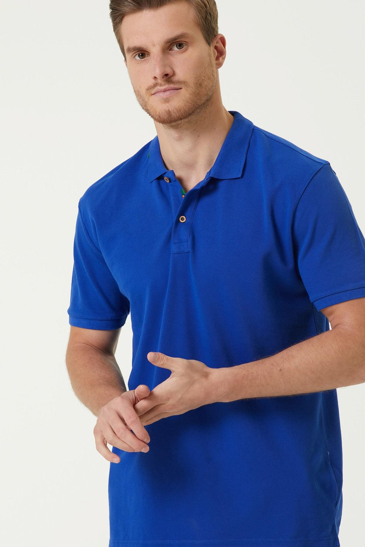 Erkek Slim Fit Saks Polo Yaka T-shirt 1079747