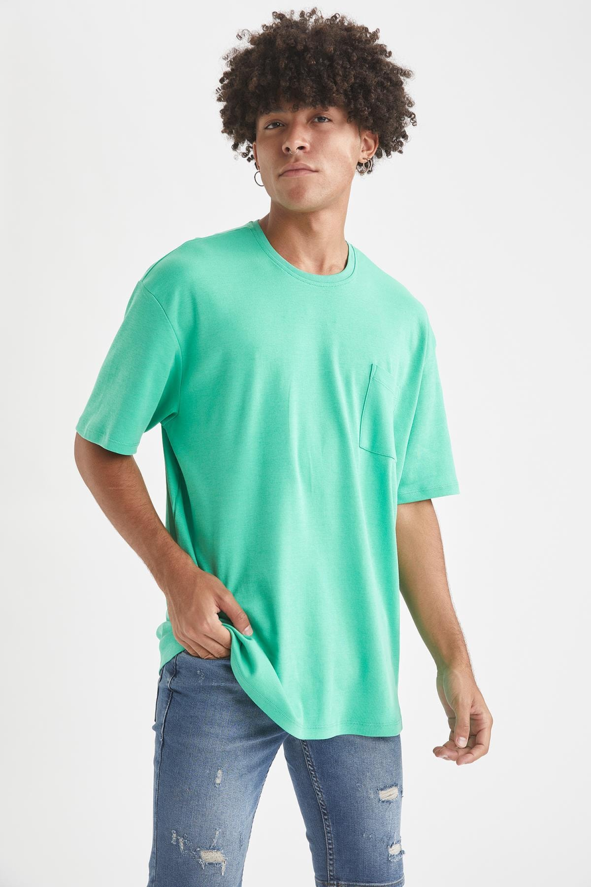 Defacto Oversize Fit Bisiklet Yaka Basic Tişört 2