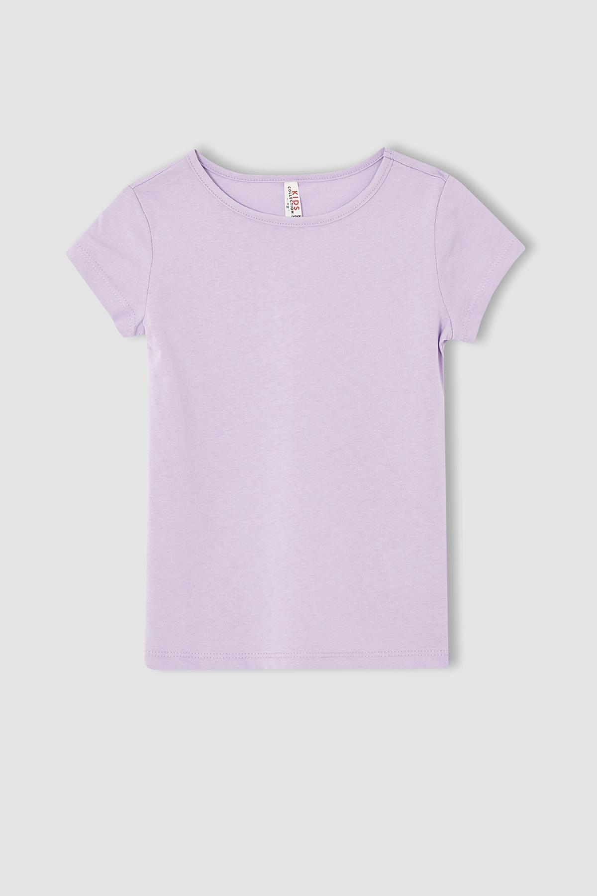Defacto Kız Çocuk Kısa Kol Basic Tişört 0
