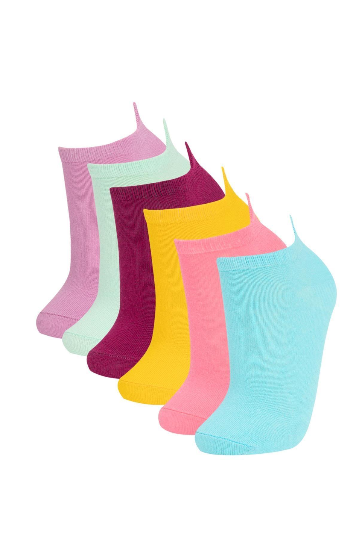 Defacto Kutulu Eğlenceli Desenli 6'lı Patik Çorap