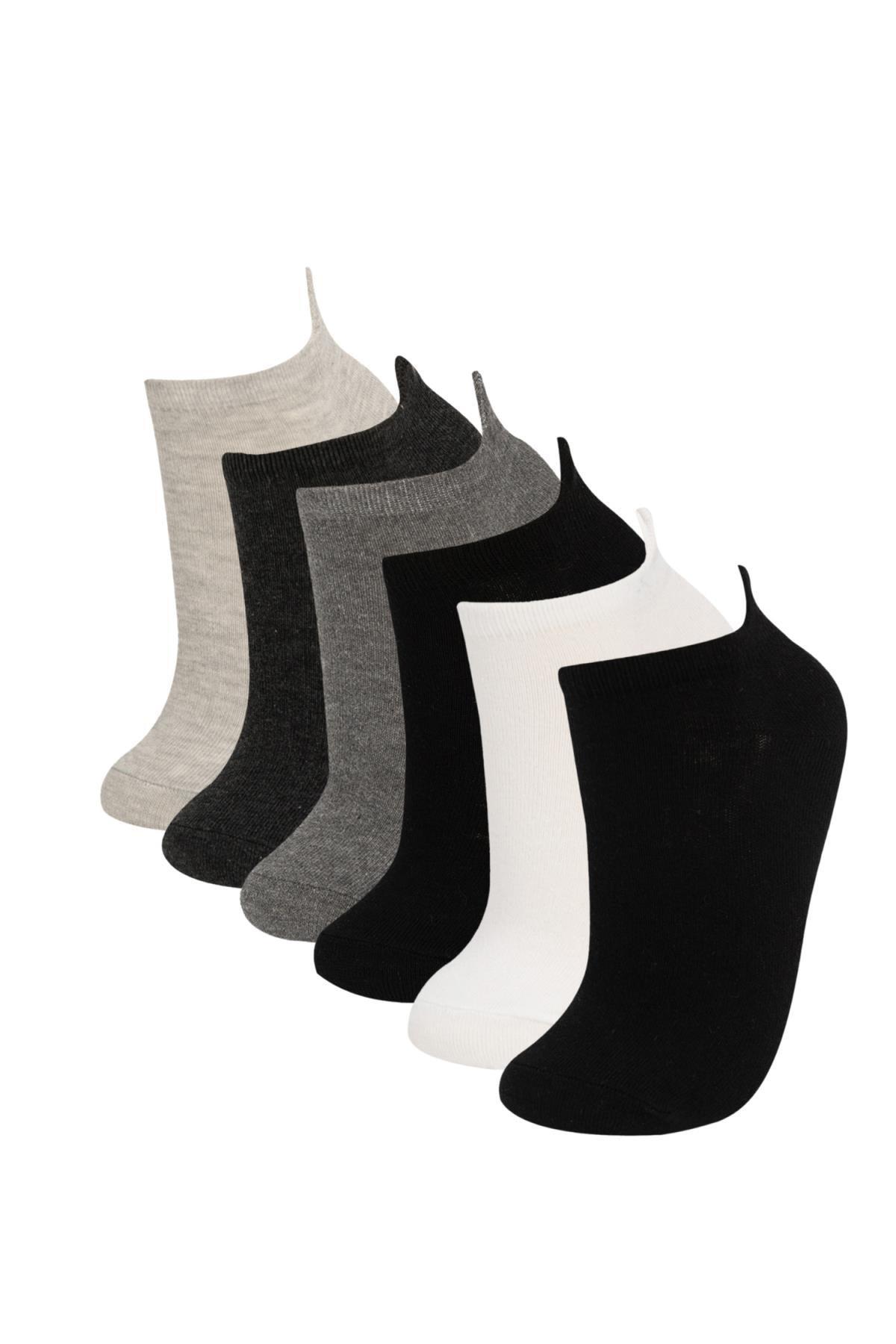 Defacto Eğlenceli Nakışlı 6'lı Kutulu Patik Çorap