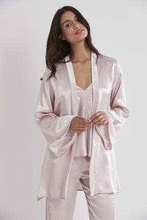 Pierre Cardin Kadife Saten 3'lü Pijama Takım - 2040 2