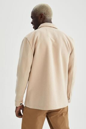 Defacto Slim Fit Polo Yaka Gömlek Ceket 3