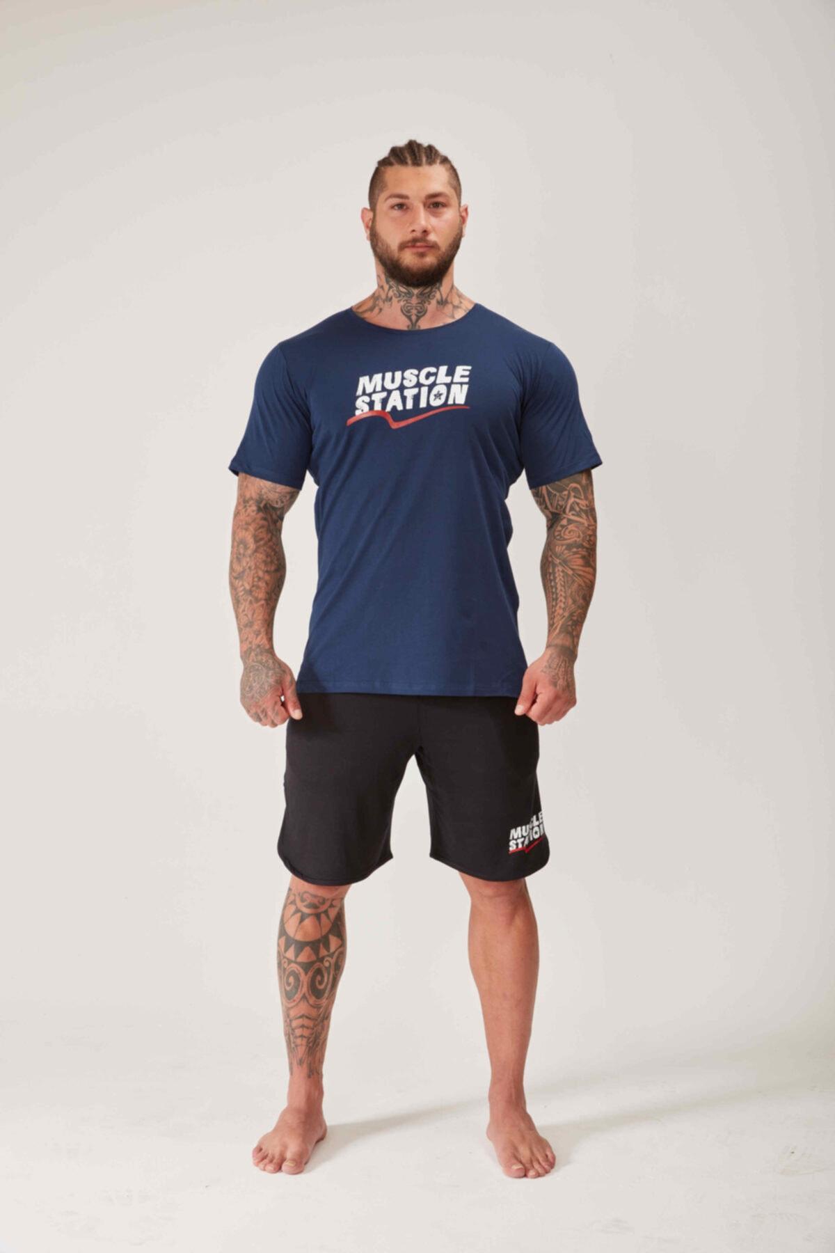 Oversized Gym Toughman Mavi Tshirt