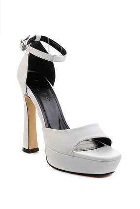 Bambi Beyaz Kadın Abiye Ayakkabı K01925010009 2