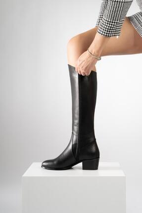 CZ London Hakiki Deri Kadın Çizme Uzun Kışlık Kadın Ayakkabı 2