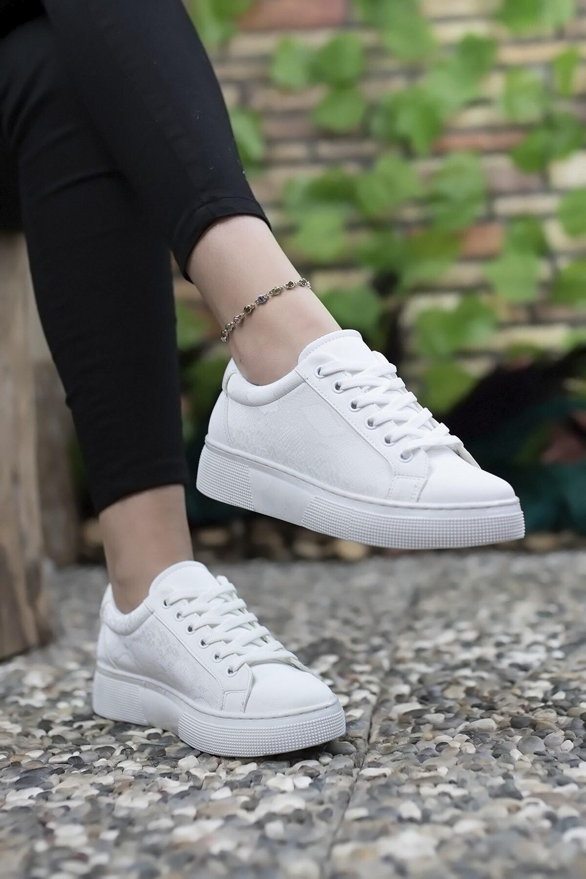 Beyaz  Kadın Sneaker 0012205