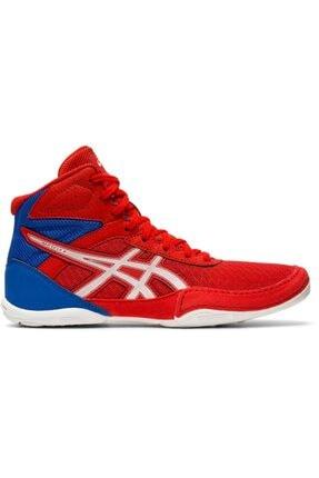 Büyük Erkek Çocuk Kırmızı Beyaz Güreş Ayakkabısı resmi