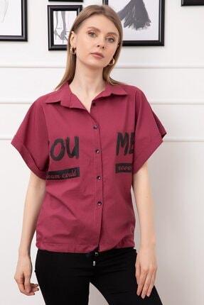 Baskılı Altı Ipli Kısa Gömlek resmi