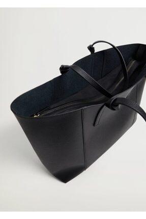 Mango Kadın Pürtüklü Shopper Çanta 3
