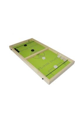 N Mobilya Ekonomik Slingpuck Hızlı Sapan Oyunu Ahşap Sling Puck 3 Oyun 1 Arada 0