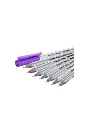 Pensan Triball 8 Li Tükenmez + Bic 6 Lı Pastel Fosforlu Kalem 2