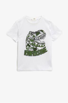 Koton Koton Erkek Çocuk T-shirt Ekru 0
