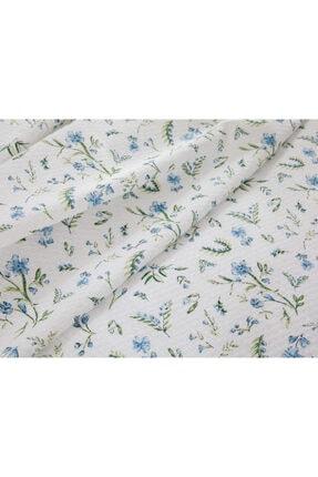 English Home Country Flowers Baskılı Çift Kişilik Pike Takımı 200x220 Cm Mavi 2