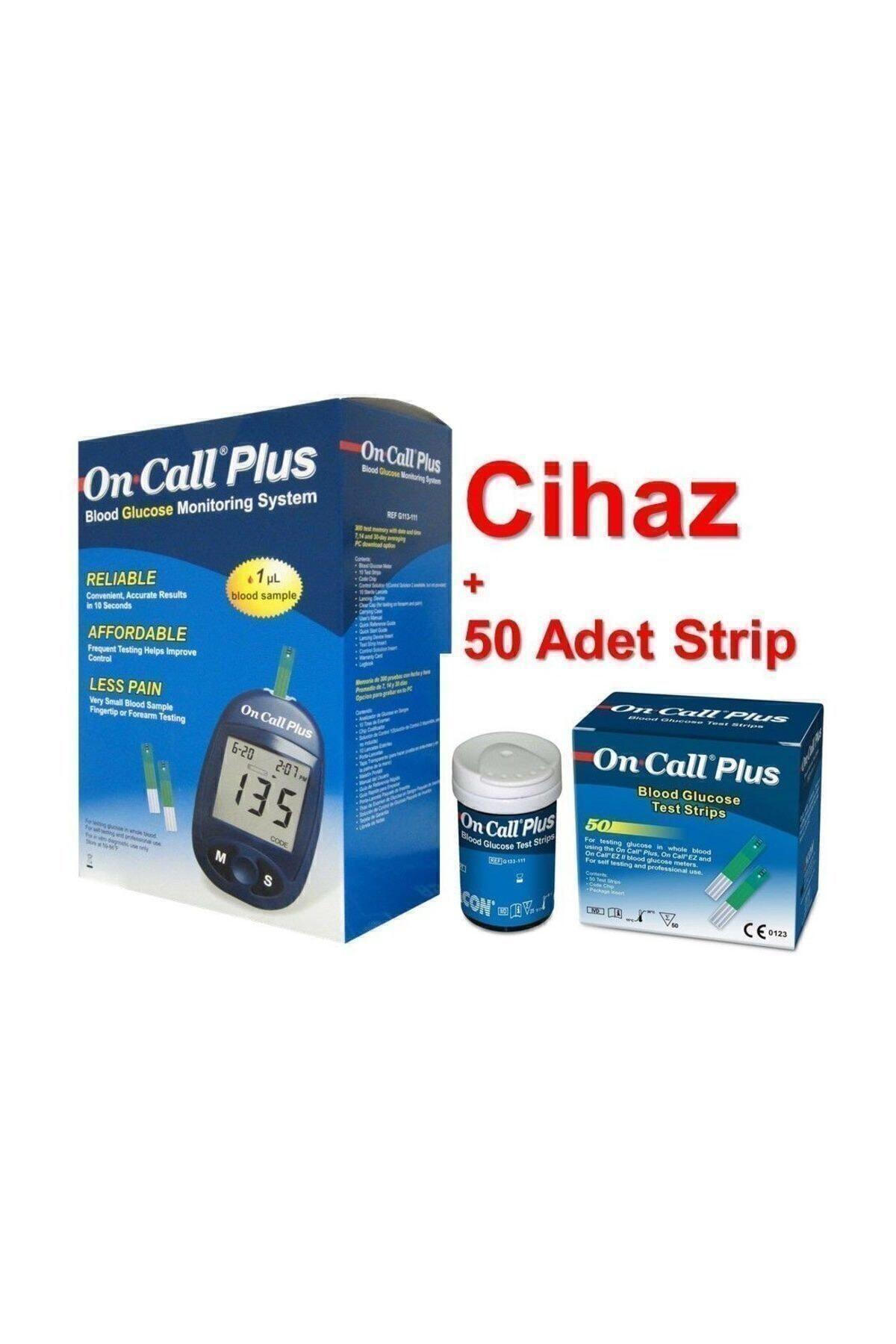 Care Plus On Call Plus Seker Ölçüm Cihazı +50 Strip Şeker Ölçüm Aleti
