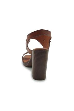 ModanınNabzı Kadın Taba Hakiki Deri Platform Topuklu Ayakkabı 211020tb 3