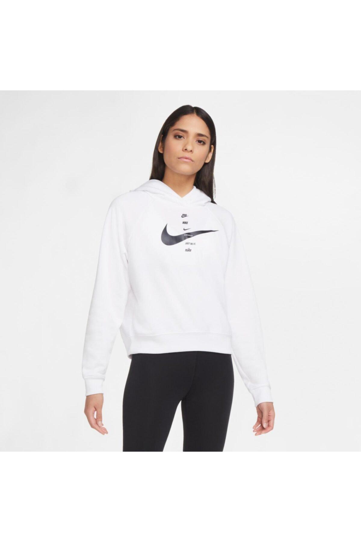 Sportswear Swoosh Kadın Beyaz Sweatshirt