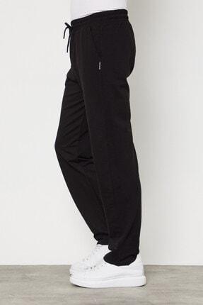 COMEOR Siyah Erkek Düz Paça Rahat Kesim Mevsimlik Premium Kumaş Eşofman Altı 1
