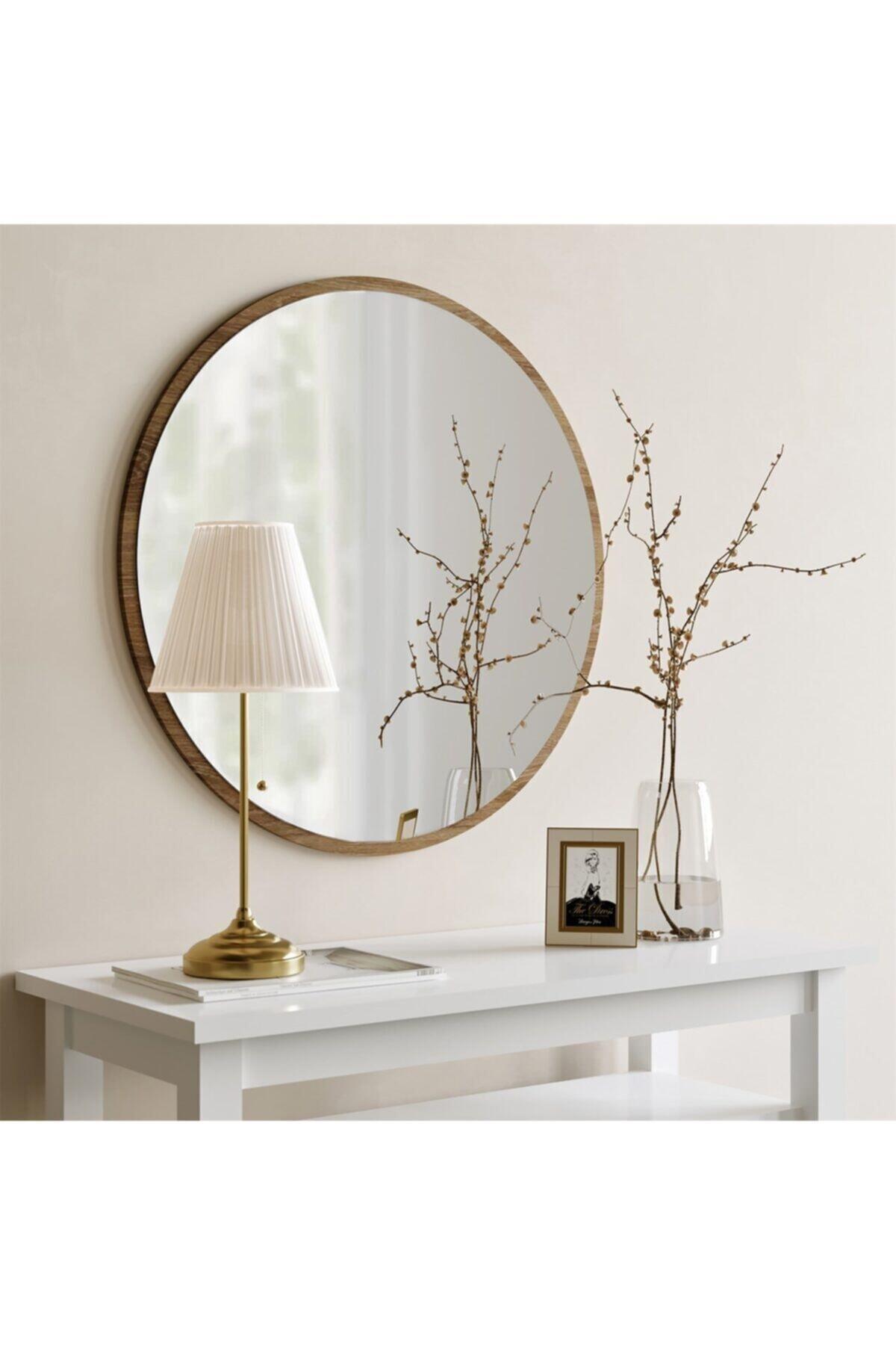 Tarz Design Yuvarlak Antre Hol Koridor Duvar Salon Mutfak Banyo Ofis Aynası 45 Cm