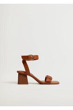 Mango Topuklu Deri Sandalet 1