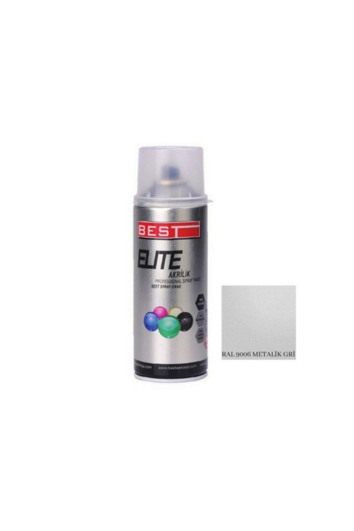 Elite Metalik Gri Ral 9006 Sprey Boya 400 ml