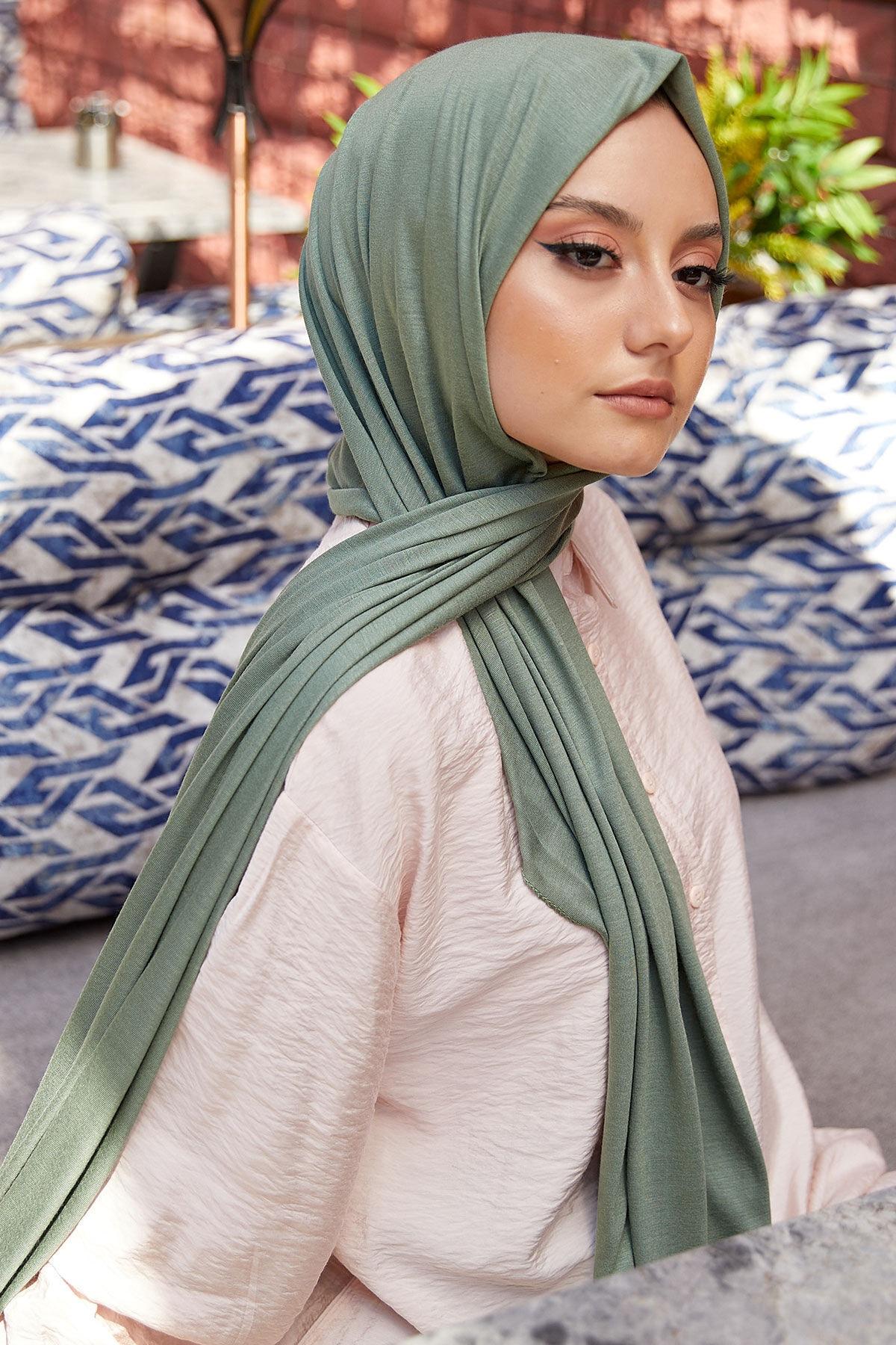 Kadın Penye Şal Çağla Yeşili