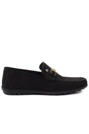 Picture of - Siyah Nubuk Erkek Loafer Ayakkabı