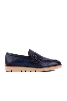 Picture of - Lacivert Erkek Bağcıksız Deri Ayakkabı