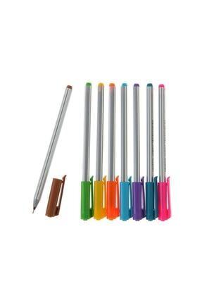 Pensan Triball 8 Li Tükenmez + Bic 6 Lı Pastel Fosforlu Kalem 3
