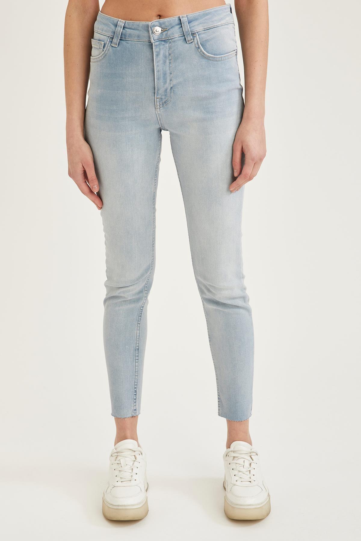 Kadın Mavi Slim Fit Jean Pantolon