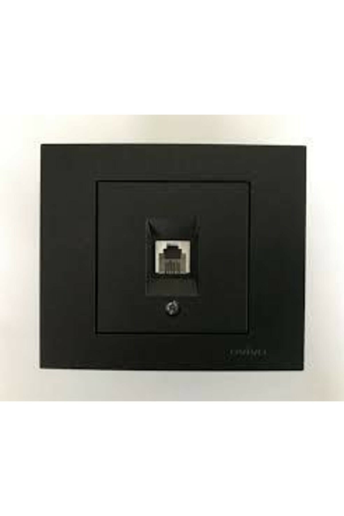 Grano Siyah Numeris Telefon Prizi Cat3 Mekanizma  Çerçeve