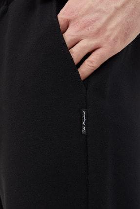 COMEOR Siyah Erkek Düz Paça Rahat Kesim Mevsimlik Premium Kumaş Eşofman Altı 2