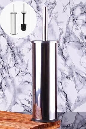 Lilya Home Paslanmaz Çelik Krom Wc Fırçası & Tuvalet Fırçası 1